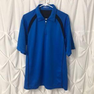 Nike Dri Fit Golf Polo Shirt 1/4 Zip good cond